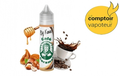 Big Kawa - Café - Caramel - Noisettes grillées - 50/50 - 50ml - O'Jlab - le comptoir du vapoteur